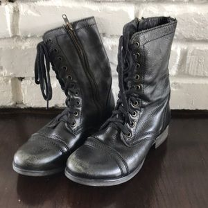 Steve Madden Troopa Lace Up Boots 6m Black
